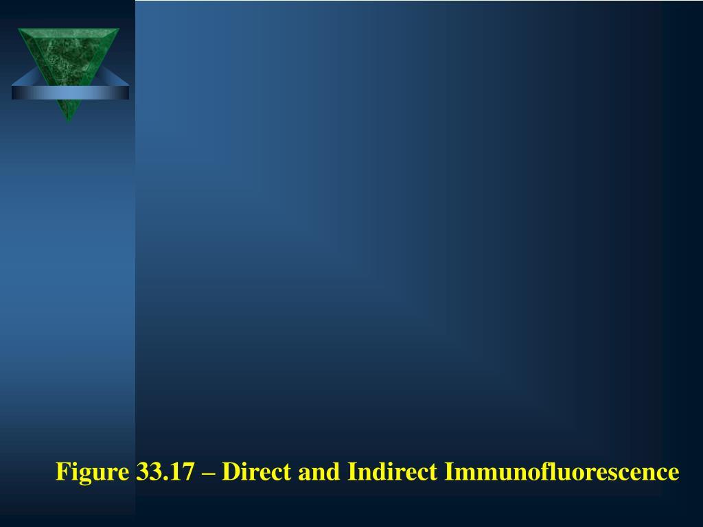 Figure 33.17 – Direct and Indirect Immunofluorescence
