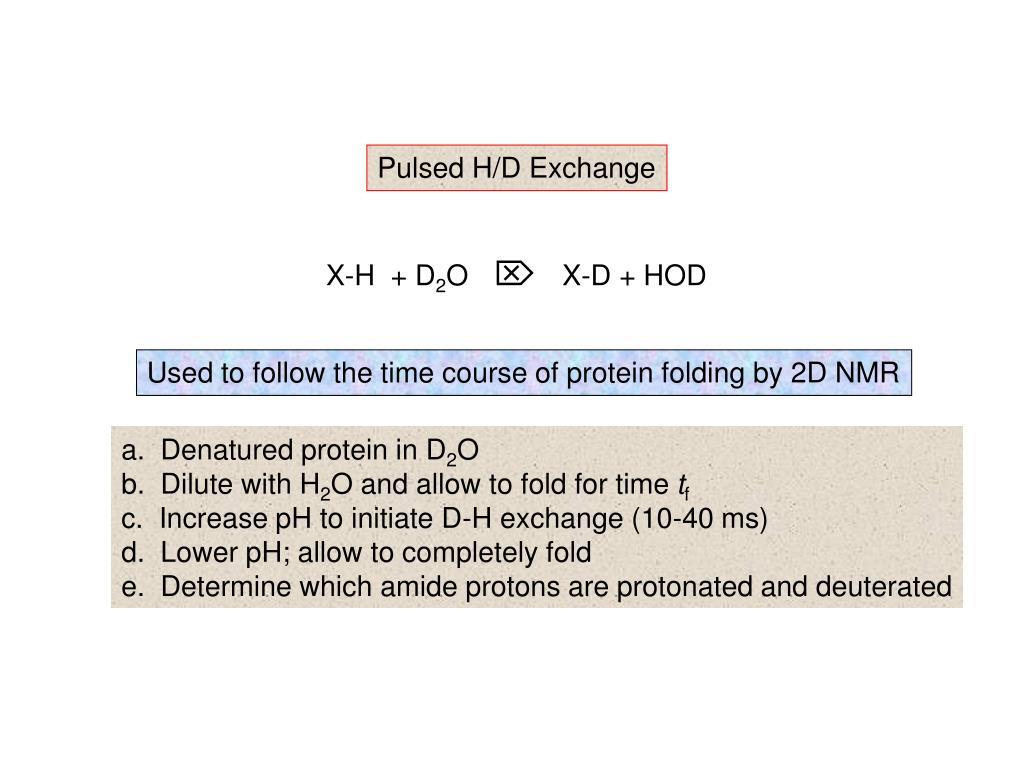 Pulsed H/D Exchange