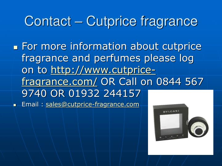 Contact cutprice fragrance