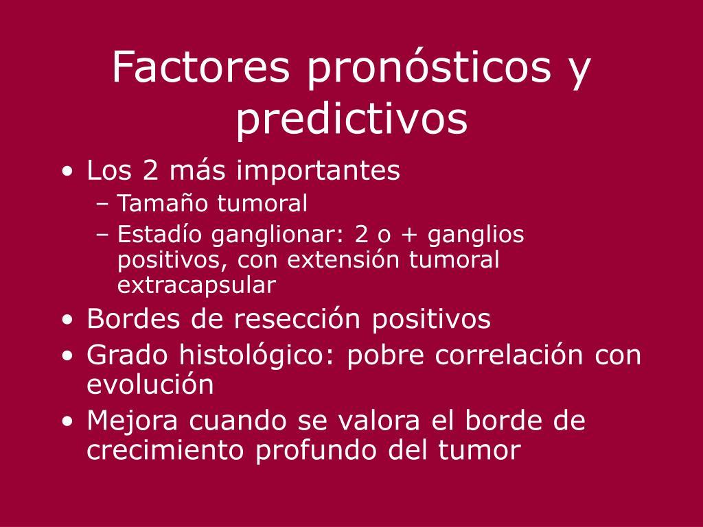 Factores pronósticos y predictivos