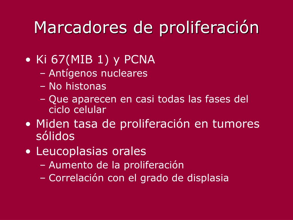 Marcadores de proliferación