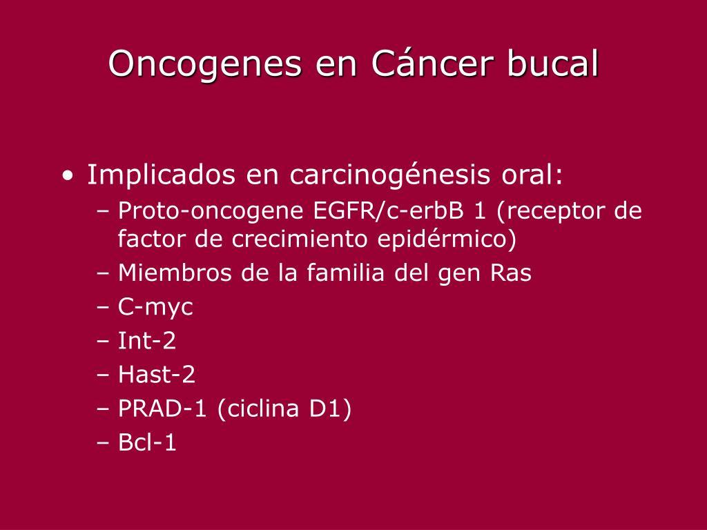 Oncogenes en Cáncer bucal