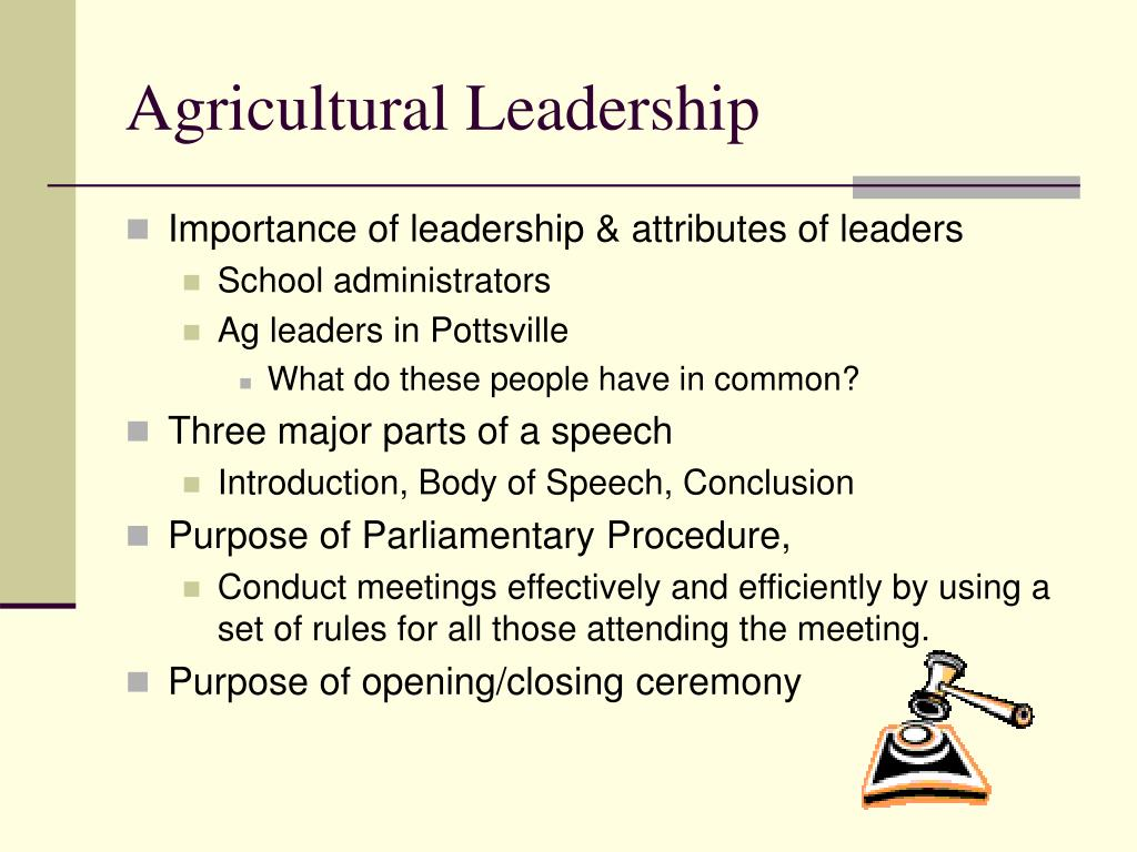 Agricultural Leadership