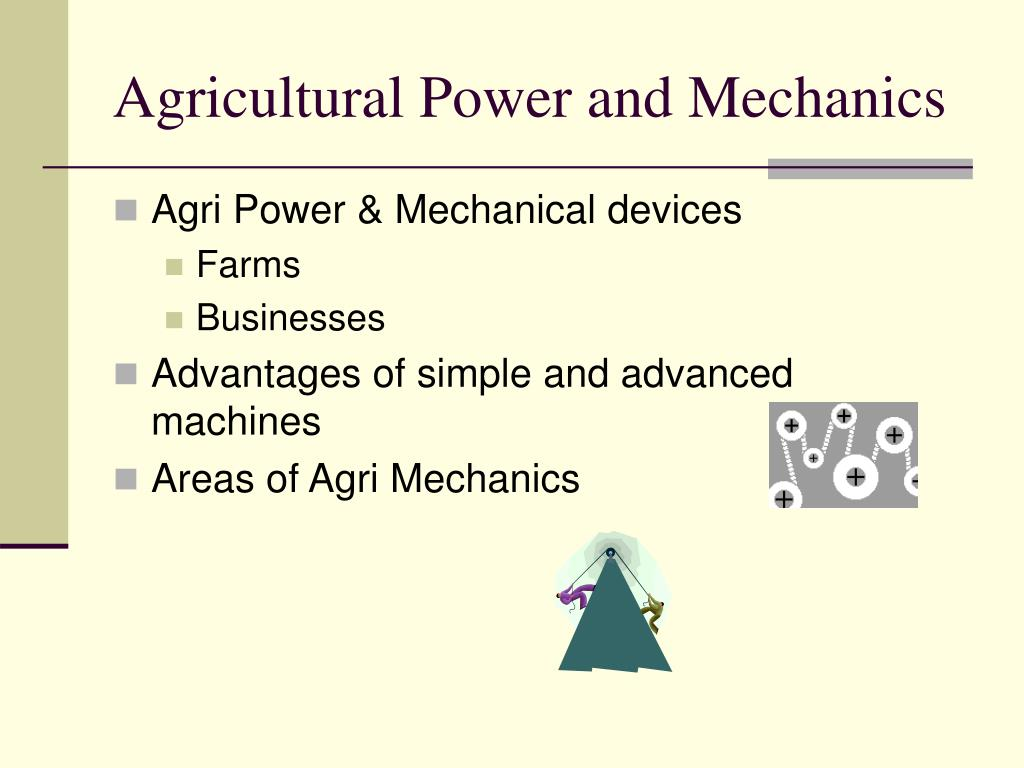 Agricultural Power and Mechanics