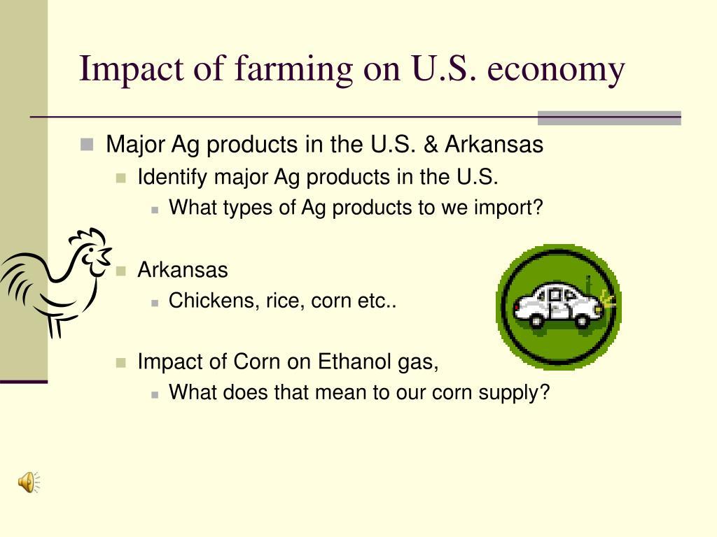 Impact of farming on U.S. economy