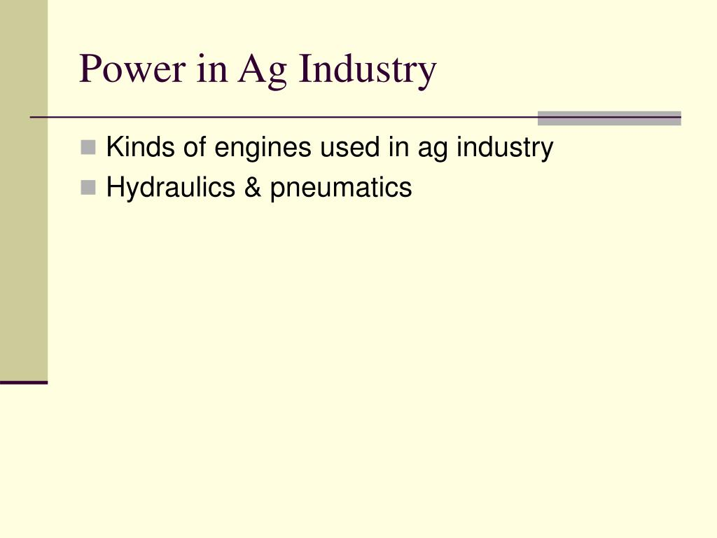 Power in Ag Industry