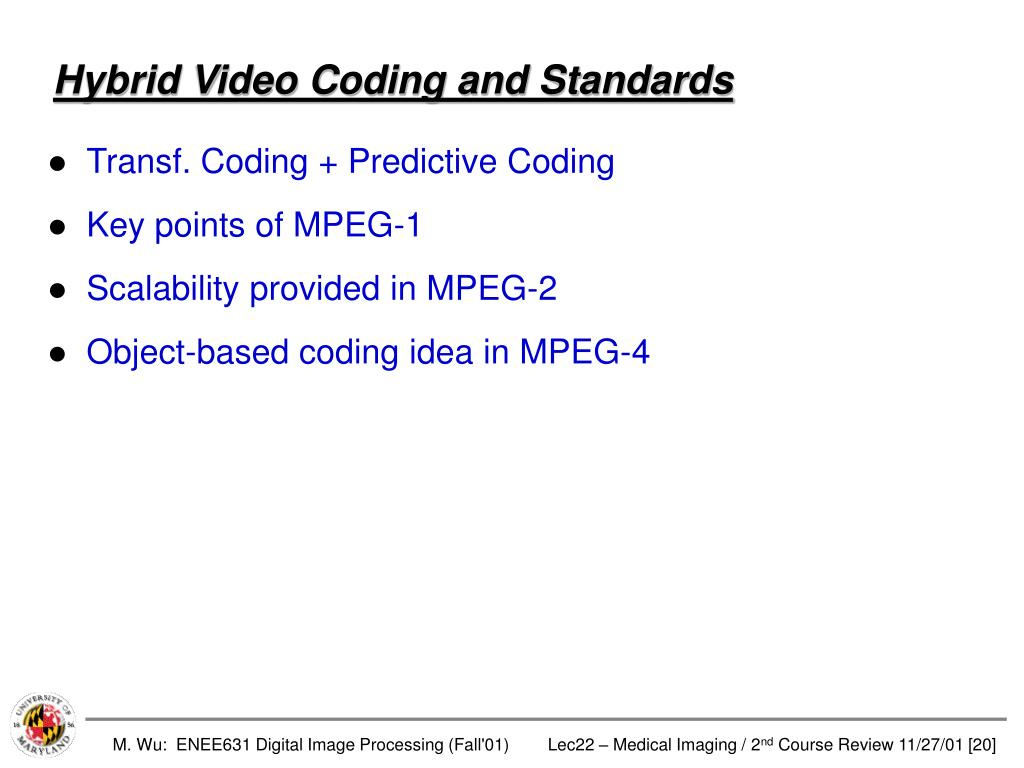 Hybrid Video Coding and Standards