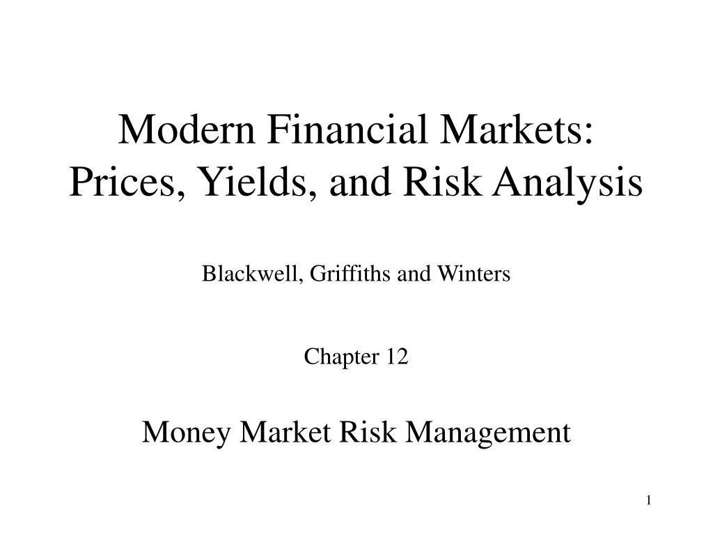 Modern Financial Markets: