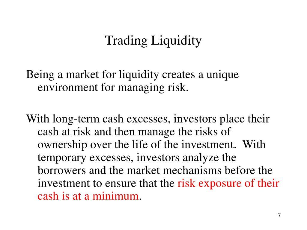 Trading Liquidity