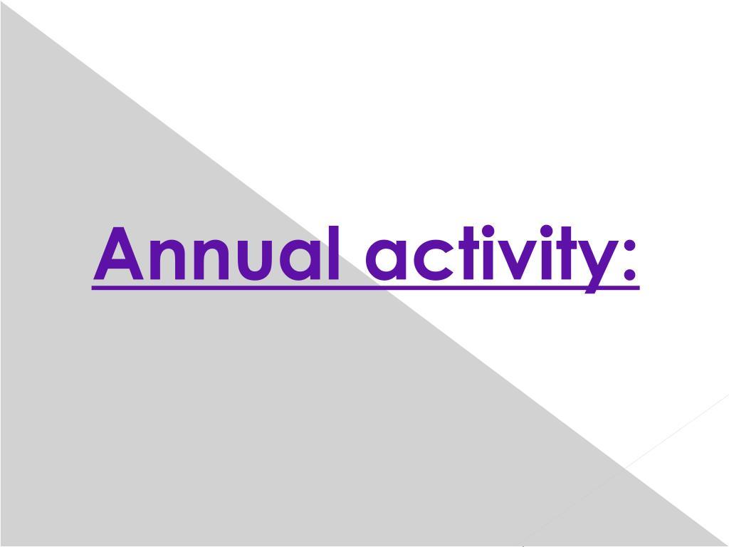 Annual activity: