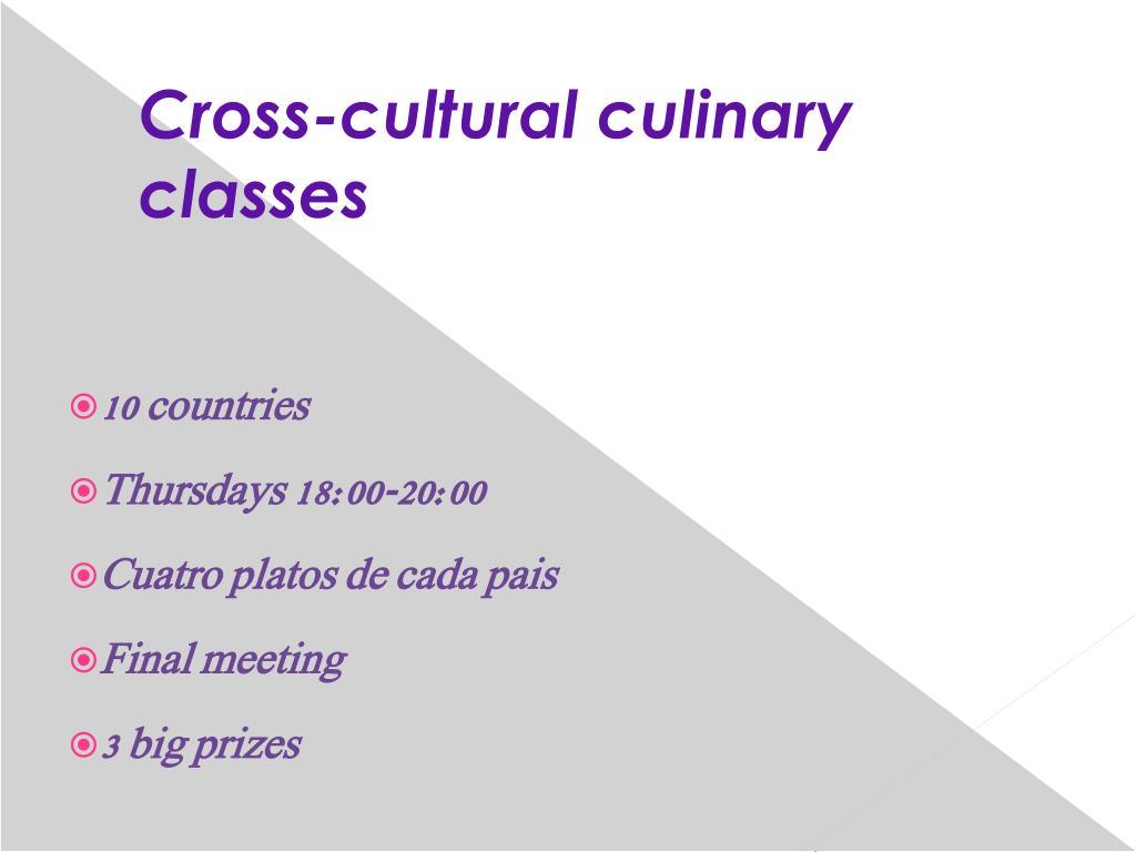 Cross-cultural culinary classes