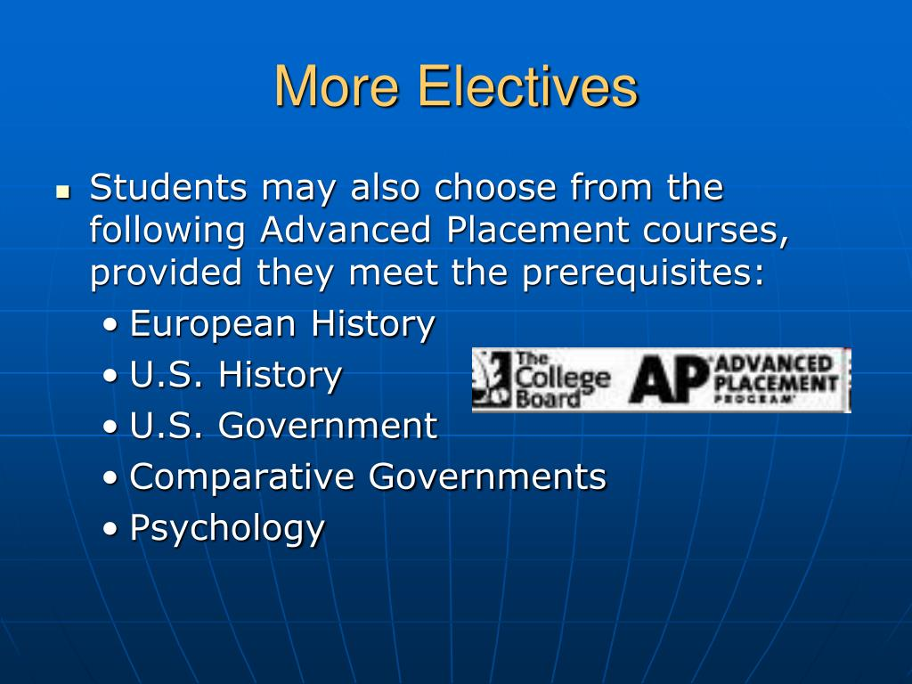 More Electives