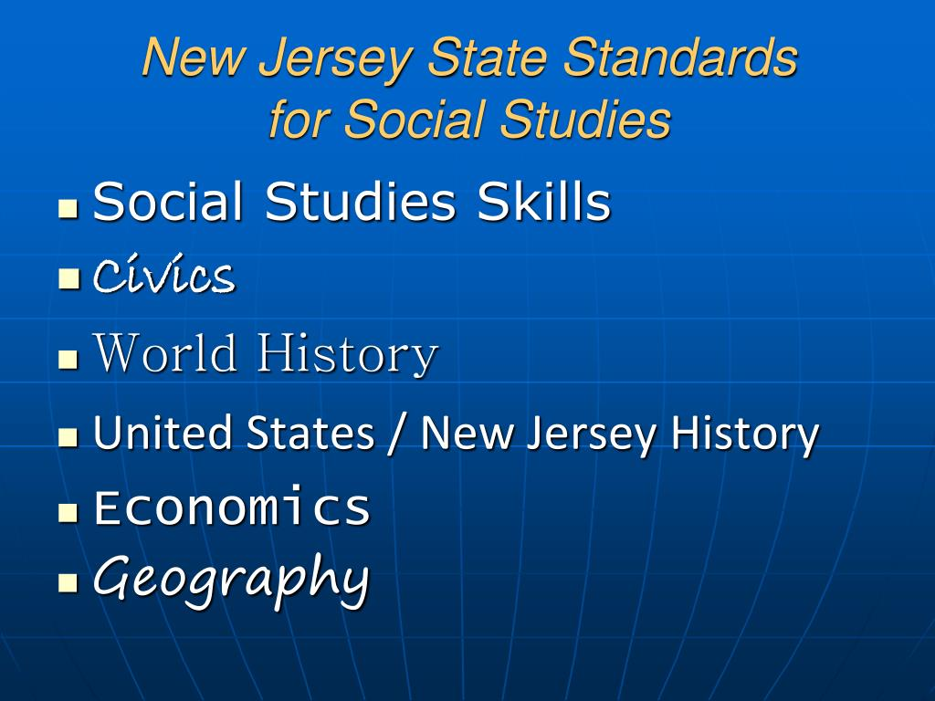 New Jersey State Standards