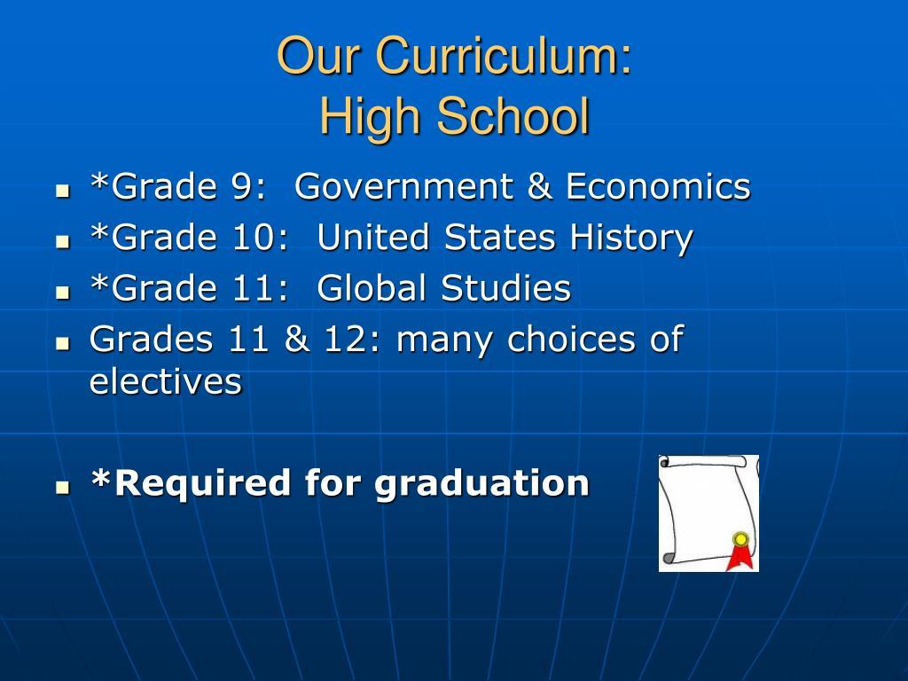 Our Curriculum: