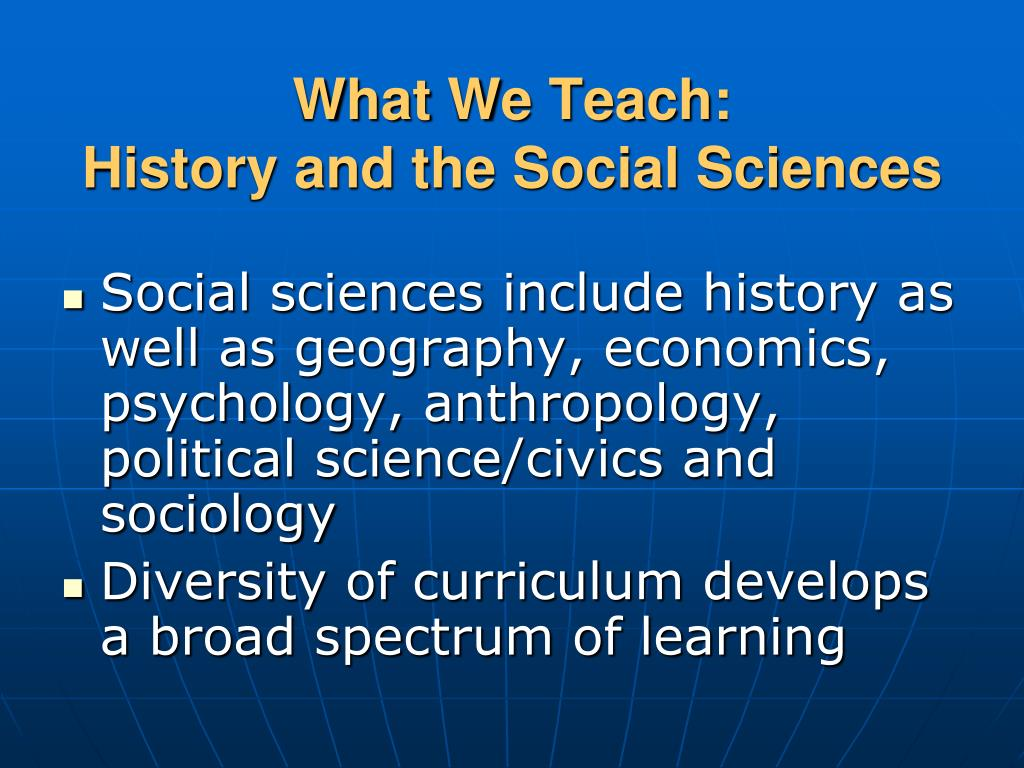 What We Teach: