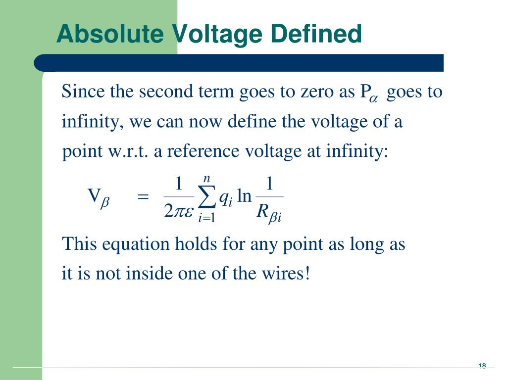 Absolute Voltage Defined