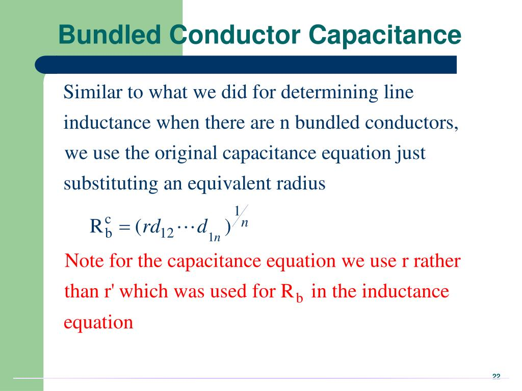 Bundled Conductor Capacitance