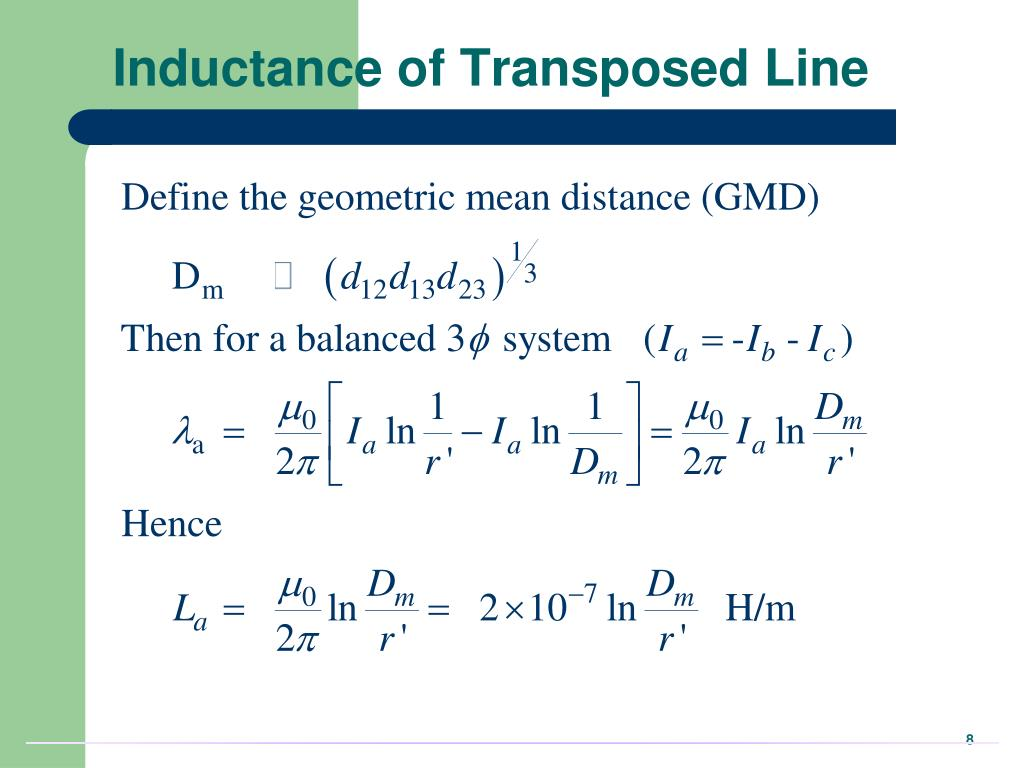Inductance of Transposed Line