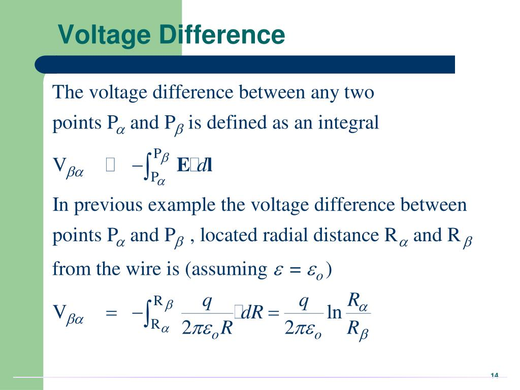 Voltage Difference