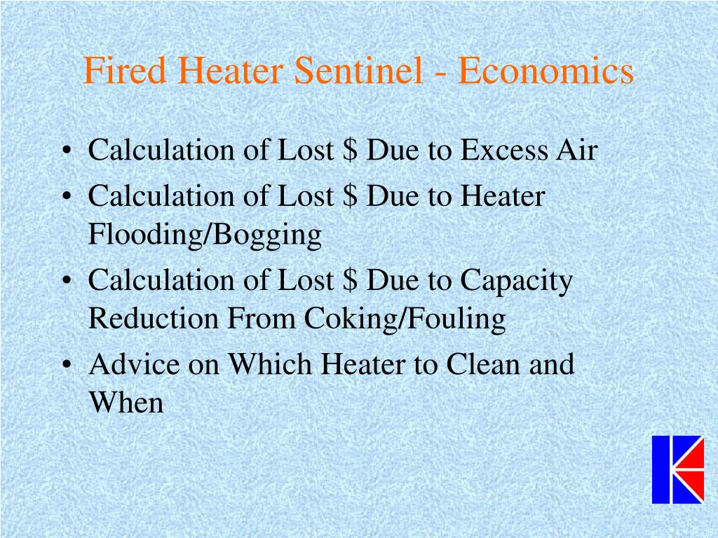 Fired Heater Sentinel - Economics