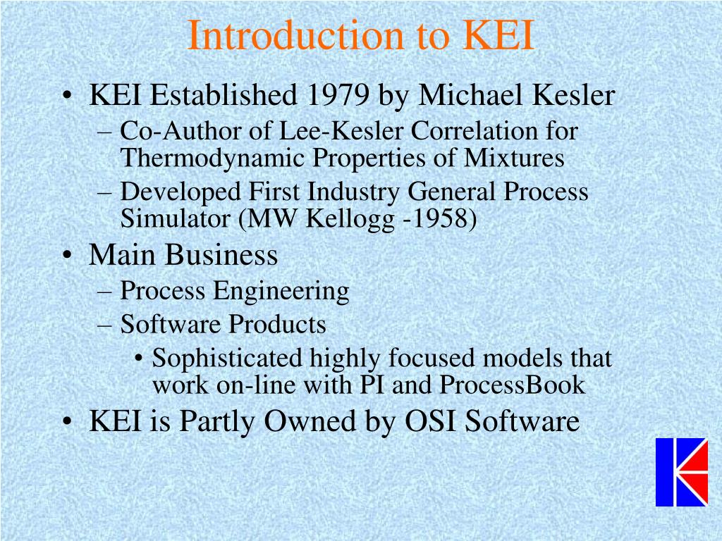 Introduction to KEI