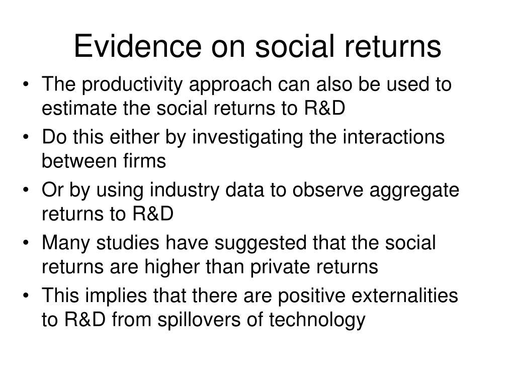 Evidence on social returns