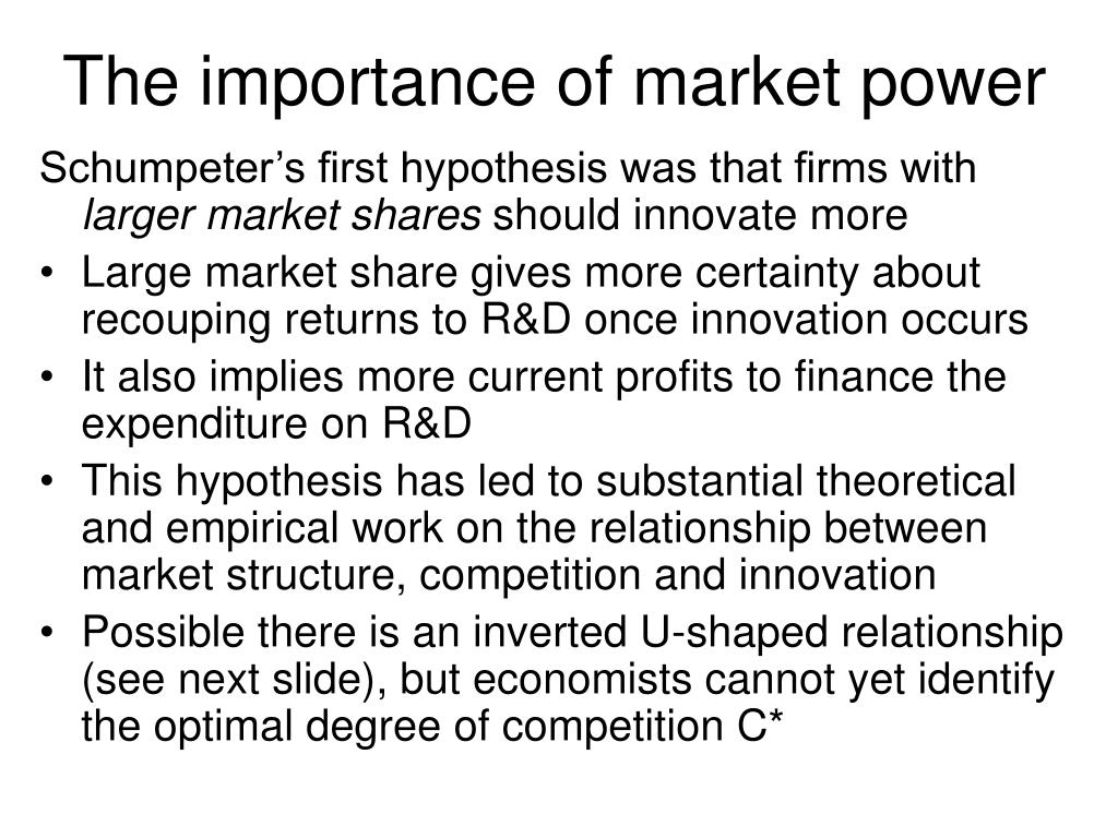 The importance of market power