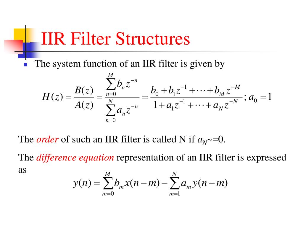 difference between fir and iir filters pdf