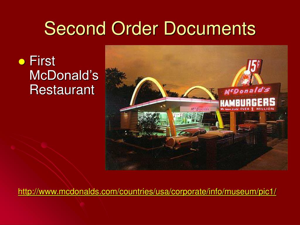 Second Order Documents