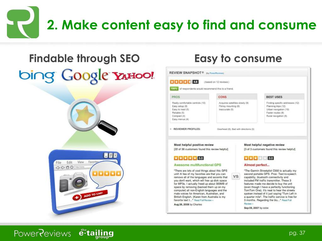 2. Make content easy to find and consume
