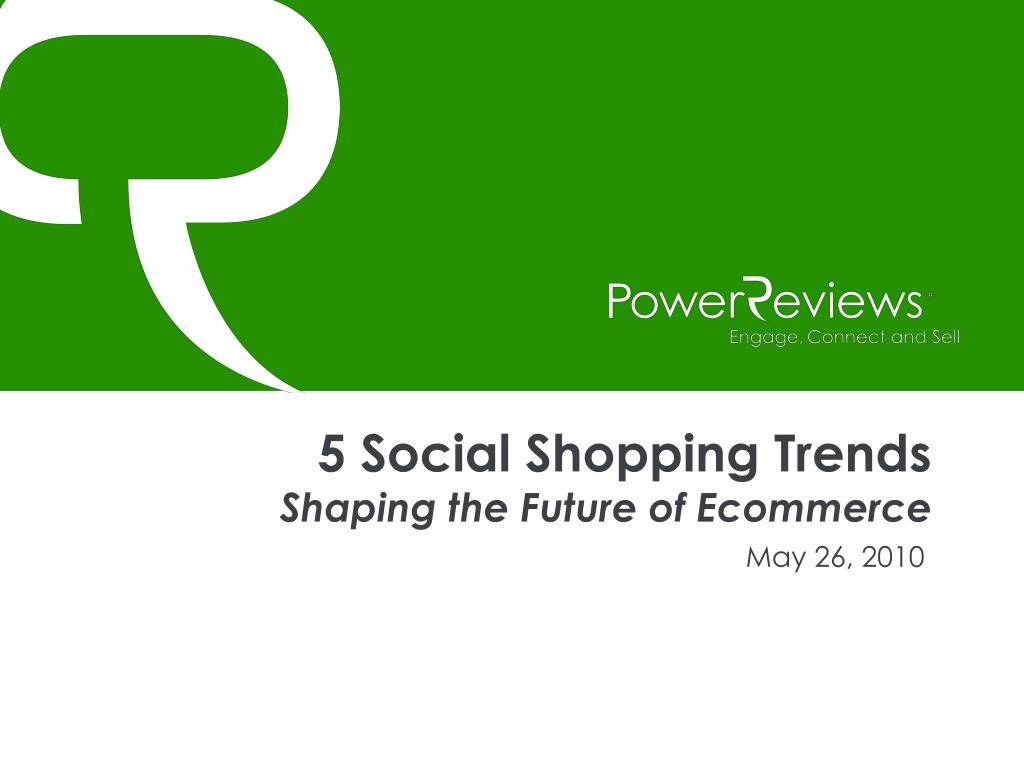 5 Social Shopping Trends