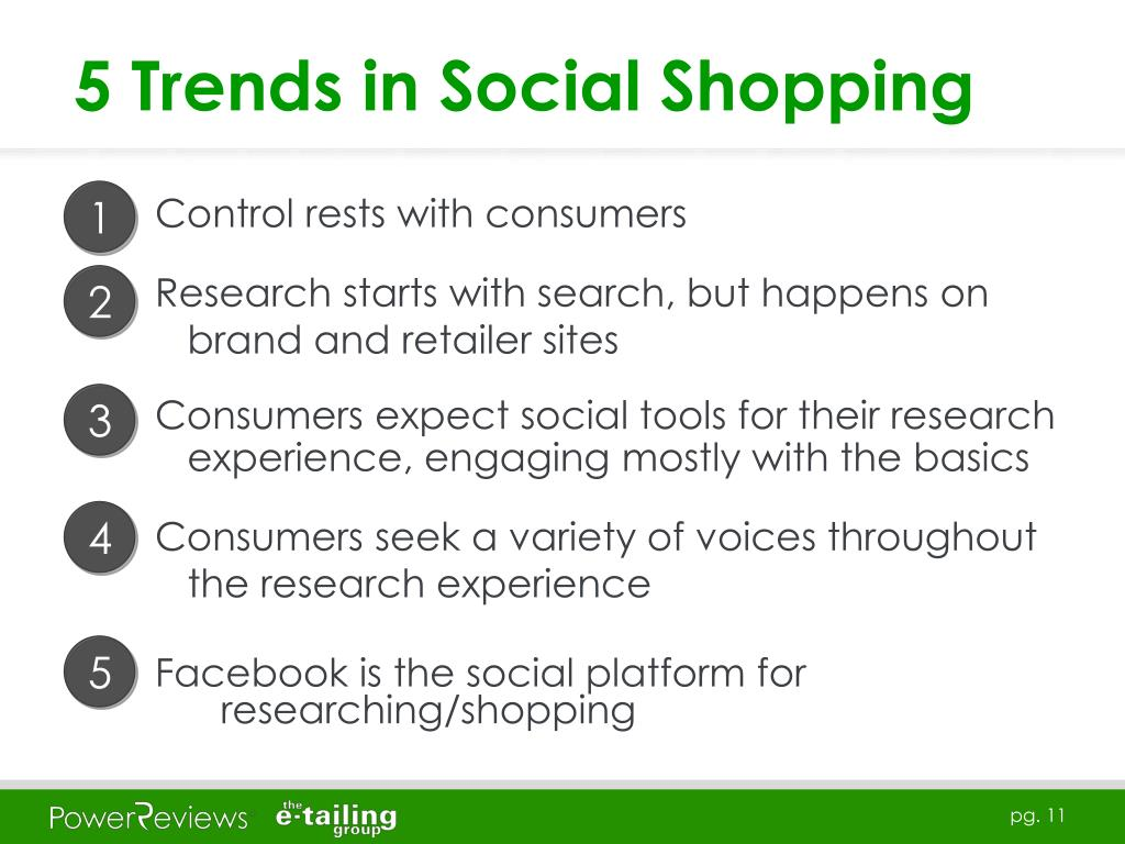5 Trends in Social Shopping