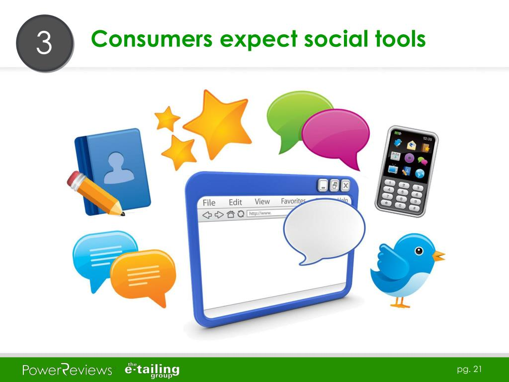 Consumers expect social tools