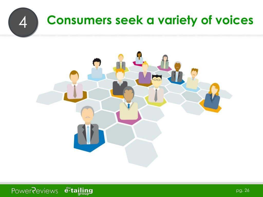 Consumers seek a variety of voices
