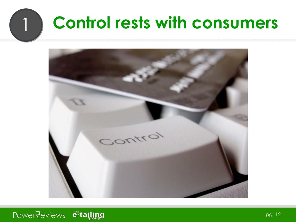 Control rests with consumers