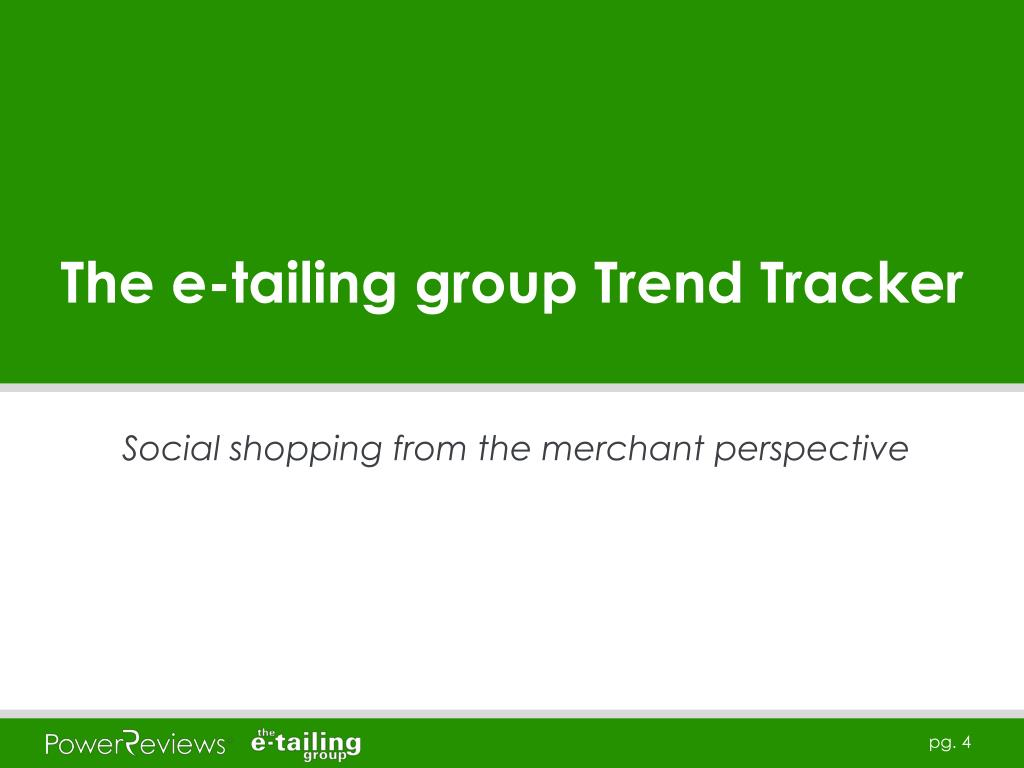 The e-tailing group Trend Tracker