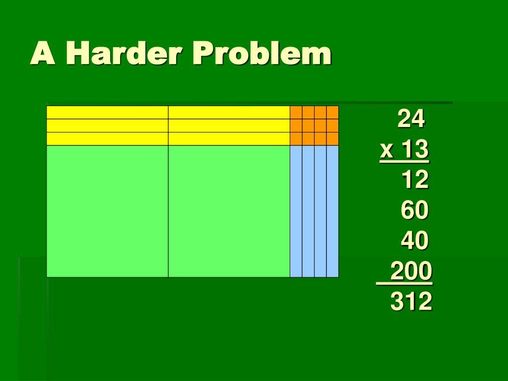A Harder Problem