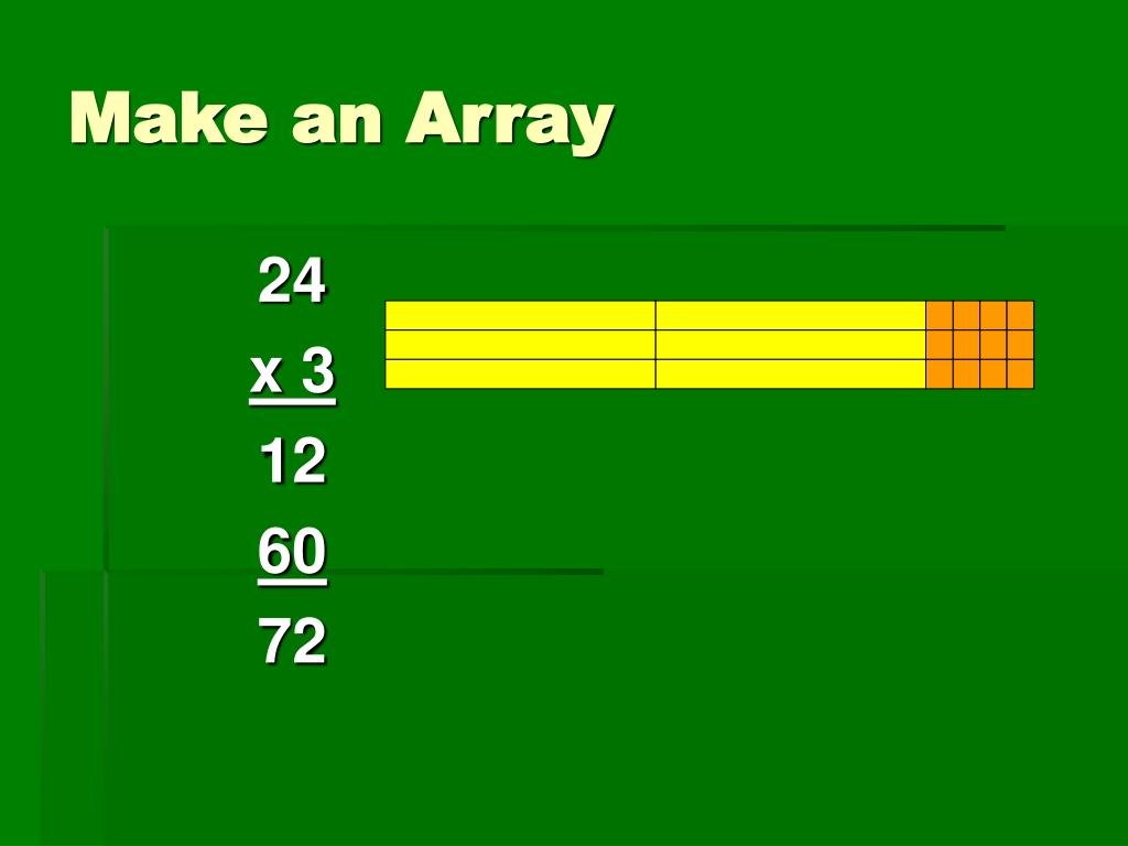 Make an Array