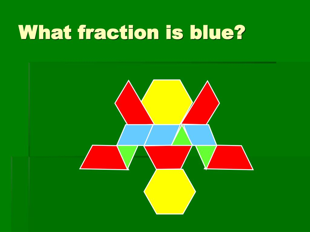 What fraction is blue?