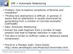 dfr automatic refactoring