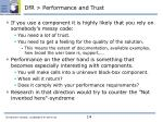 dfr performance and trust