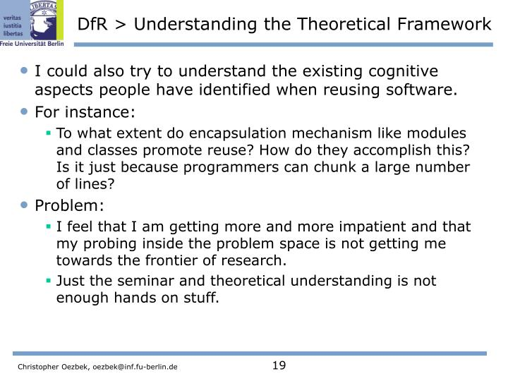 DfR > Understanding the Theoretical Framework