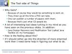 the tool side of things