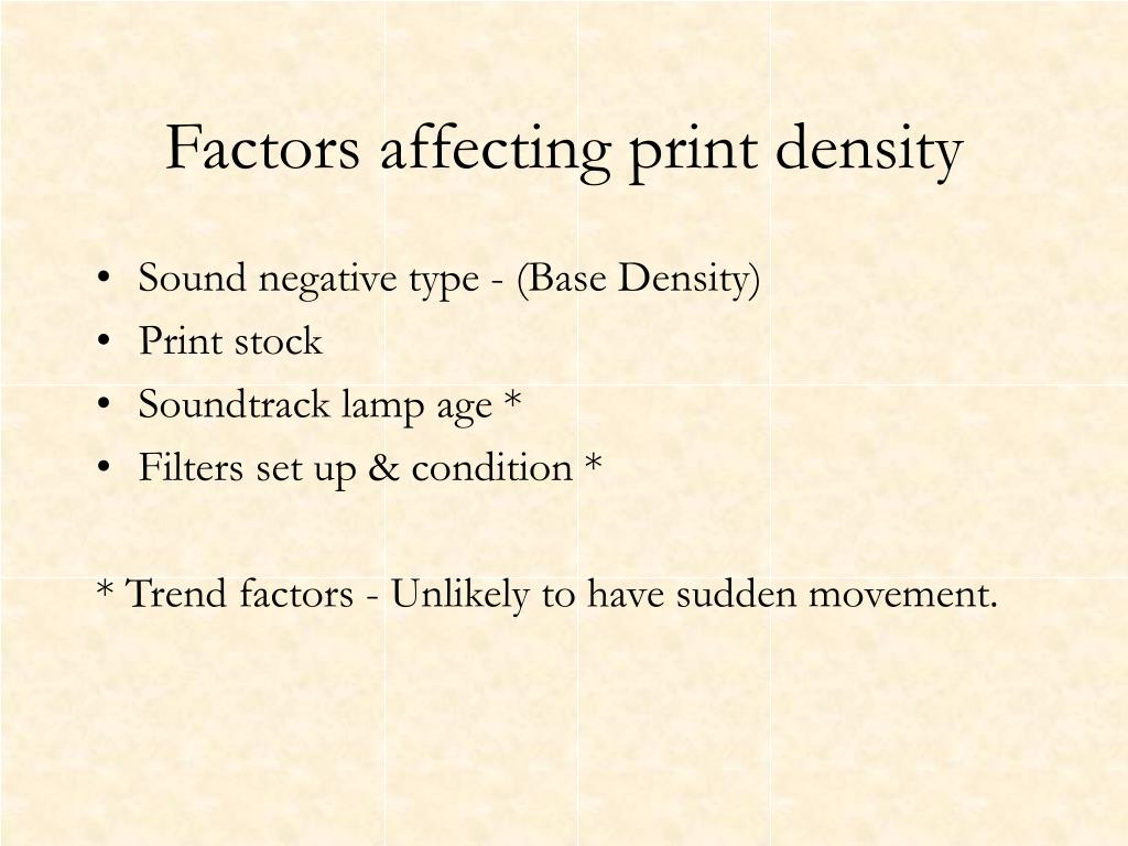 Sound negative type - (Base Density)