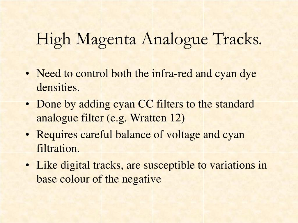 High Magenta Analogue Tracks.