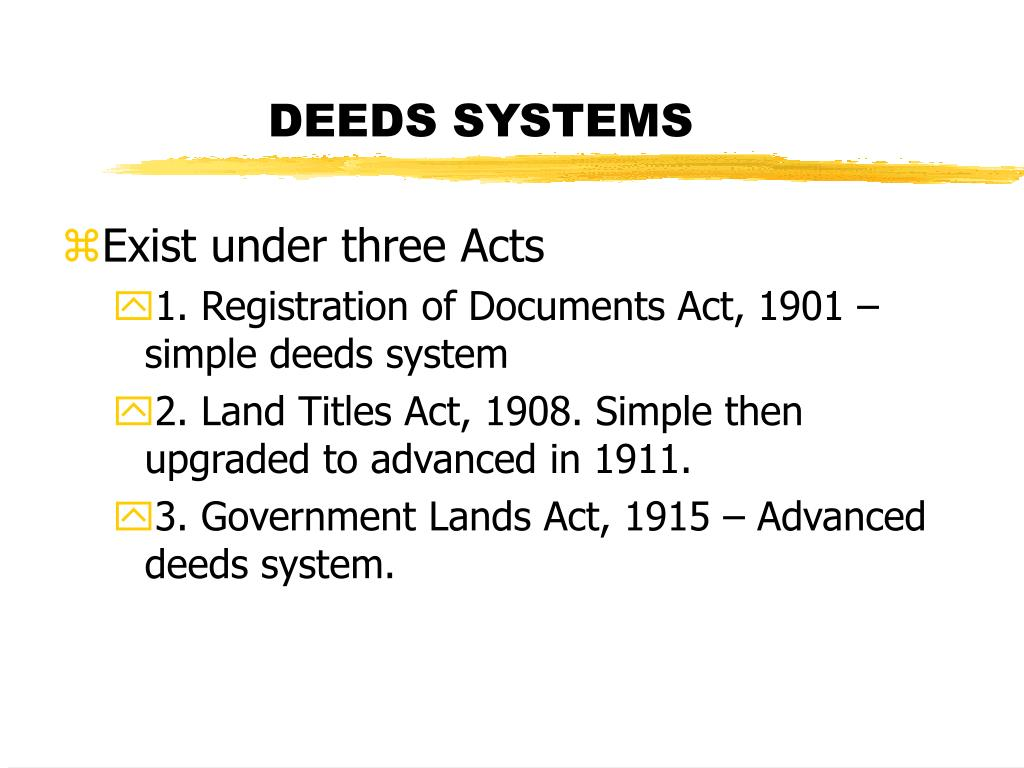 DEEDS SYSTEMS