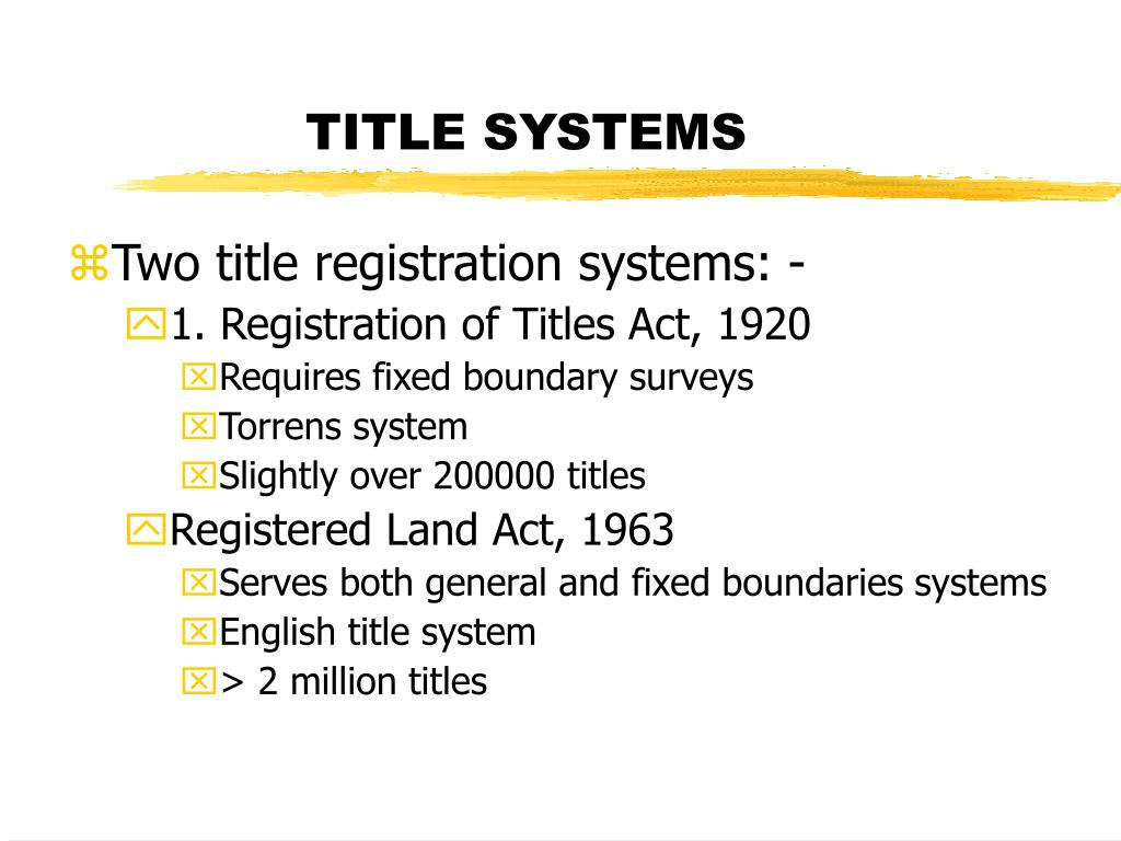 TITLE SYSTEMS