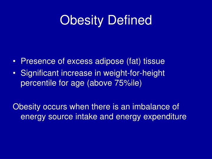 Obesity defined