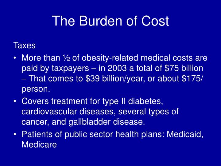 The Burden of Cost