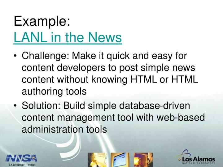 Example lanl in the news l.jpg